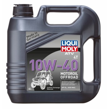 Моторное масло квадроцикла синтетическое 4л 4Т Liqui Moly ATV Motoroil Offroad 10W-40 MA2 7541