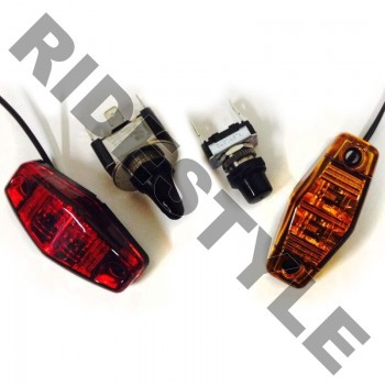 Комплект поворотников для квадроцикла/UTV/SxS Arctic Cat/BRP/CanAm/Honda/Kawasaki/Polaris/Suzuki/Yam