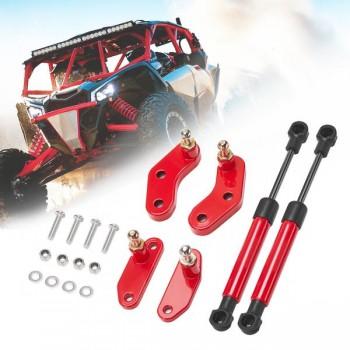 Газовые амортизаторы-доводчики дверей красные Cam-Am Maverick X3 Kemimoto B0102-00601RD