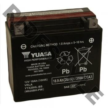 Аккумулятор Yuasa YTX20HL-BS (20L-BS) 410301203, 515175642, 4011496, 4SH-82100-22-00, BTY-YTX20-LB-S0, YTX-20LBS-00-00, 515175560, 296000295, 619660002