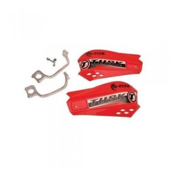 Защита рук красная с одноточечным установочным комплектом 22мм Tusk MX D-Flex 1198150005