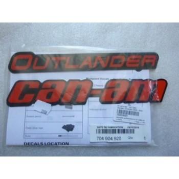 Наклейки расширителей арок (4шт) Can Am BRP Outlander XMR Red 704905975 /704905976 /704904920