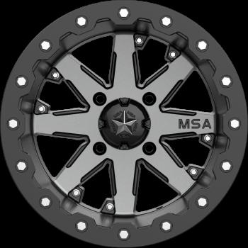 Диск колесный с бедлоком для квадроциклов BRP /Can-Am Maverick /Commander /Outlander /Renegade MSA M21 LOK Charcoal Tint, R15x7, 4x137 M21-05737