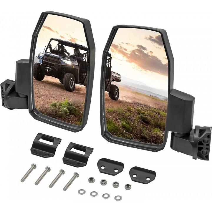 Комплект боковых зеркал заднего вида под профильную трубу для UTV Polaris Ranger XP 1000 /900 /570 /General /Can-Am Maverick Trail /Sport /Commander /Traxter /Defender RiderLAB RM83