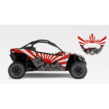 Комплект виниловой графики UTV FX Graphics Fuji для квадроцикла Can-Am Maverick X3