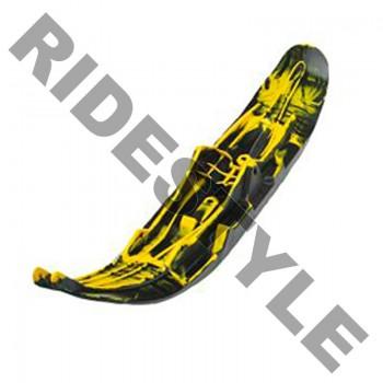 Лыжа снегохода для горного спорта правая черная/желтая BRP/Ski-Doo Pilot 6.9 505073060 /505073022