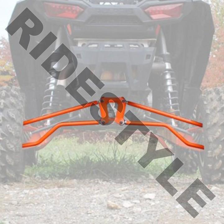 Комплект задних верхних и нижних красных спортивных рычагов квадроцикла Polaris RZR XP 1000 SuperATV RSL-P-R