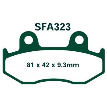 Тормозные колодки зание Yamaha YFZ/YZ 450 05-15, Raptor 700 2013+ 5TG-W0046-10-00 EBC SFA323
