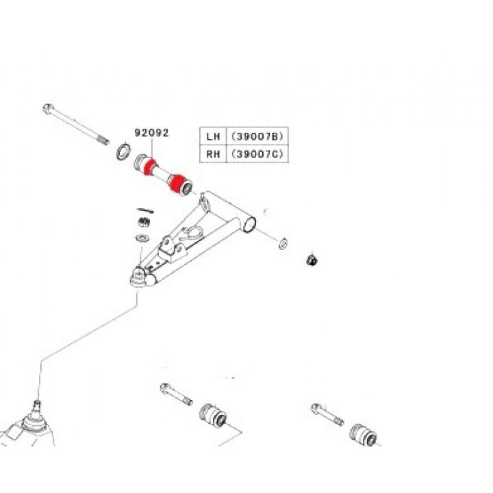 Втулка рычага верхнего Kawasaki KVF 750 Brute Force 2012+ 92092-0025
