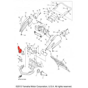 Кожух рулевой тяги правый снегохода Yamaha VK10/Nytro/Apex 8FU-2198J-00-00/8FU-2198J-01-00