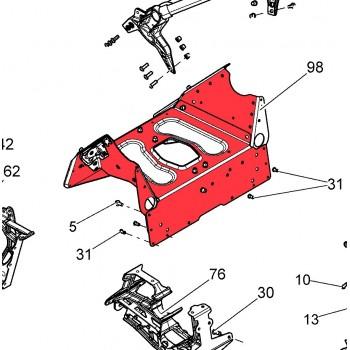 Суппорт крепления нижних рычагов SkiDoo/Lynx Freeride/Renegade/MXZ 2015+ 518328322