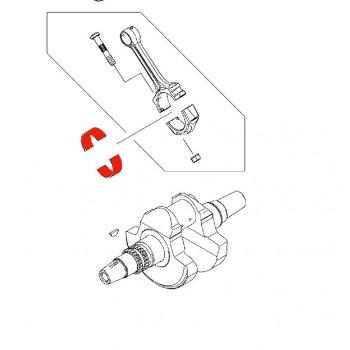 Вкладыш шатуна YELLOW Kawasaki KVF 750 92139-0765