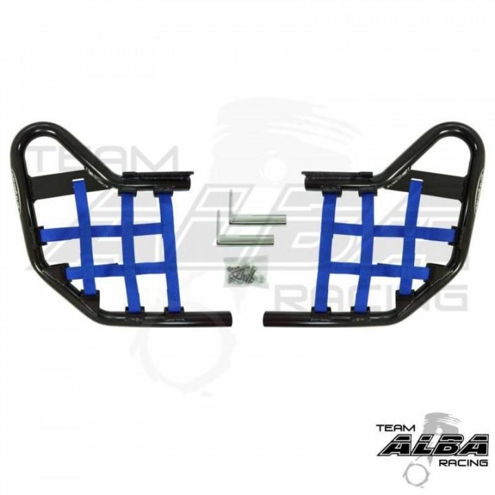 Ловушки для ног на квадроцикл Yamaha YFZ 450R /YFZ 450X инжекторная модель цвет черный /синий 2009+ Alba Racing 251-T1-BB