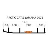 Коньки для лыж снегохода Yamaha/Arctic Cat Bear Cat/Firecats/Sabercats/King Cat, Woodys EXTENDER EAT3-9975/16-72402