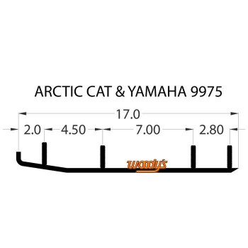 Коньки для лыж снегохода Yamaha/Arctic Cat Bear Cat/Firecats/Sabercats/King Cat, Woodys EXTENDER EAT3-9975/16-72402