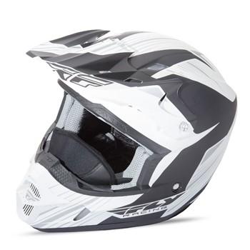 Шлем кроссовый черно/белый  XL Kinetic Pro Cold Fly Racing 73-4935X