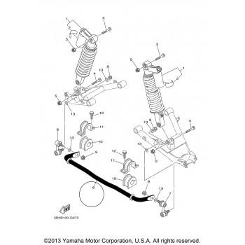 Задний стабилизатор, тяга Yamaha Rhino 700/660/450 5UG-G7491-00-00