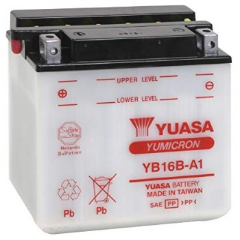 Аккумулятор Yuasa YB16B-A1 Suzuki S50 Boulevard /VS800GL Intruder /VS700 Intruder
