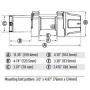Лебедка для квадроцикла WARN INDUSTRIES VRX 3500 WIRE ROPE WINCH 101035 /619-101027