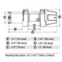Лебедка для квадроцикла WARN INDUSTRIES VRX 25 WIRE ROPE WINCH 101025 /619-101025