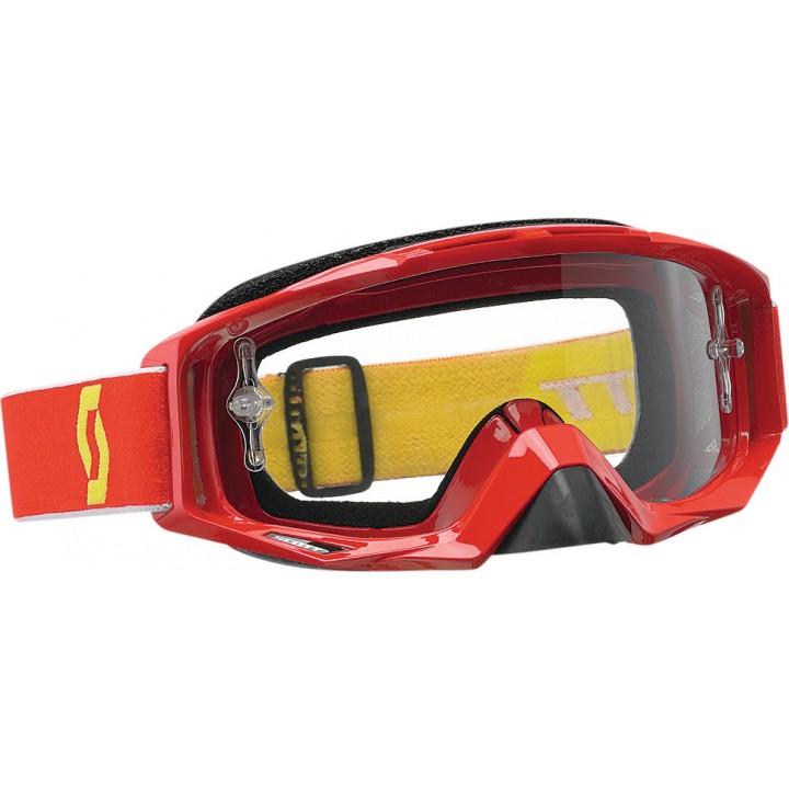 Маска квадроциклетная /кроссовая SCOTT TYRANT GOGGLE RED W/CLEAR LENS 51-1632