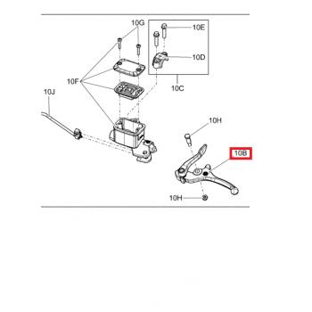 Рычаг тормозной машинки снегохода BRP SKI DOO/LYNX 507032476