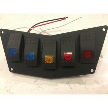 Панель с 5 кнопками для Polaris RZR 900 11-14/RZR 800 08-14 /RZR 570 12-17 Kemimoto LTS-K5