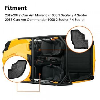 Резиновые коврики в салон Can-Am Commander /Maverick 2011-2018 Kemimoto FTVFM007