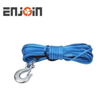 Трос синтетический с крюком 15м 6,5мм для лебедки квадроцикла /багги синий 5000 LBsEnjoin EJWR-003