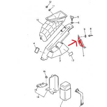 Кронштейн патрубка воздуховода Yamaha Enticer ET410 /CS340 /Ovation 89-01 85L-77373-01-00