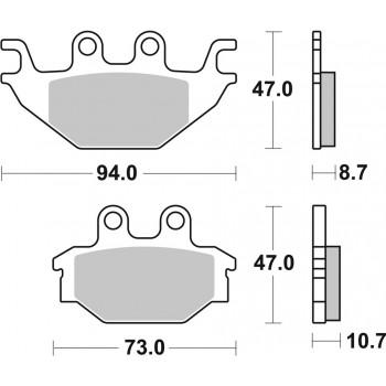Тормозные колодки Stels 800D/700D/600D Dinli F210176-00 /Arctic Cat DVX 250 /300 3303-908 /Kymco /Kawasaki KVF 300 43082-Y004 /Can-Am DS 250 S45105BAA000A /FA377 SBS 810SI