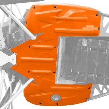 Защита днища оранжевая для  снегохода Arctic Cat  XF, ZR, M 7639-087/7639-722