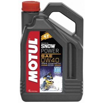 Моторное масло для 4-х тактных снегоходов Motul Snowpower 4T 0W40 4 л  101231 /013992 /105892
