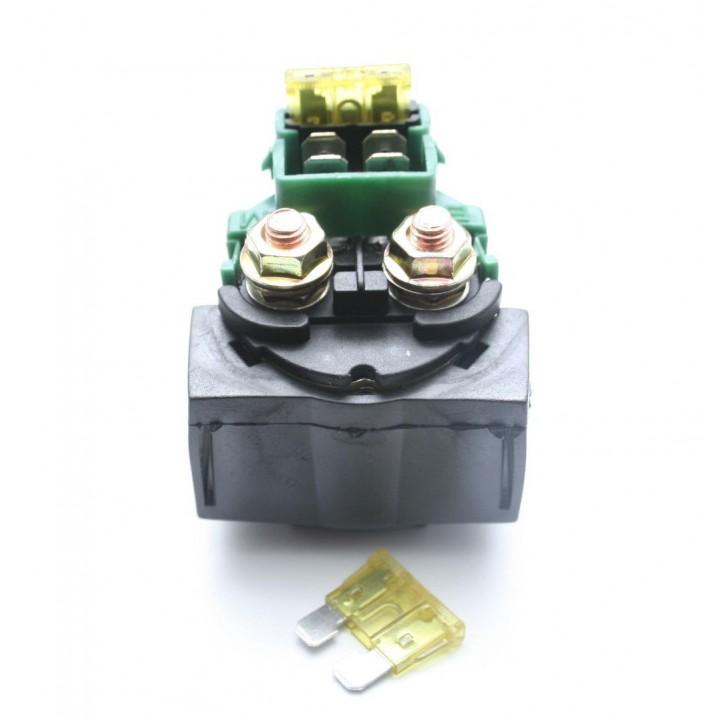 Реле стартера Arctic Cat 450 XC 3306-519 /Kawasaki ZX-11/ZX-10 Ninja 27010-0796, 27010-1254 KLX650 /KLF250/220 27010-0768 /27010-1243 /27010-1283 /Yamaha YBR 125 5VL-H1940-01-00 /Suzuki GS500 31800-01D00 /Honda 35850-MK3-671, 35850-MT8-003 /Kymco 35850-LB