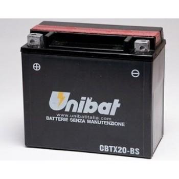 Аккумулятор для квадроцикла и снегохода UNIBAT YTX20H-BS (YTX20-BS)