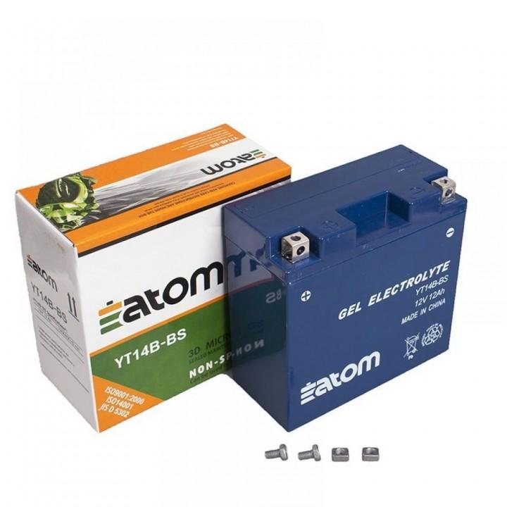 Аккумулятор гелевый Atom YT14B-4 (YT14B-BS) GEL