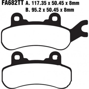 Тормозные колодки передние /задние левые карбон Can-Am Maverick X3 715900386 /715900379 EBC FA682X /FA682TT