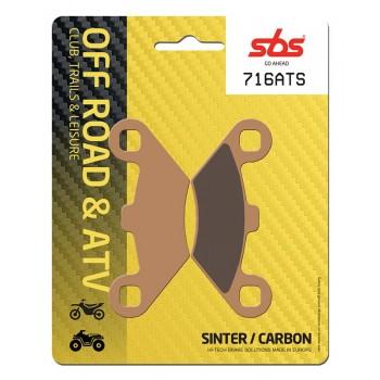 Тормозные колодки квадроцикла, передние/задние  Polaris Sportsman, Magnum Sinter SBS 716ATS