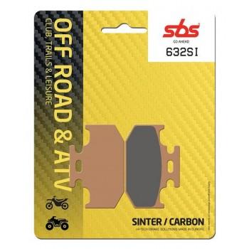 Тормозные колодки SBS, задние Sinter 632SI