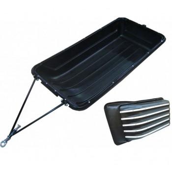 Сани-волокуши 1430 с отбойником и накладками с демпфером 400 мм. Для мотособак Универсальные    Rival S.0013.2.BP-NK