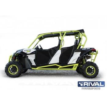 Защита порогов BRP Maverick 1000 DS MAX / Turbo MAX  2015- Rival 444.7230.1