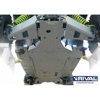 Защита днища для SSV BRP Maverick 1000 X DS MAX / Turbo 2015- Rival 444.7226.1