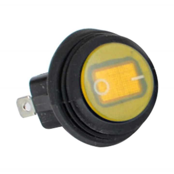Кнопка желтая 2 положения влагостойкая кнопка /тумблер 20мм TSK LTS-032