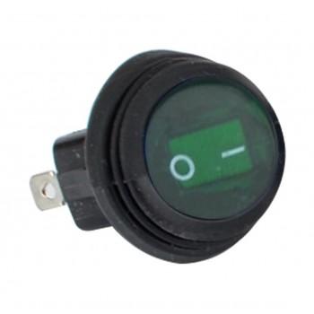 Кнопка зеленая 2 положения влагостойкая кнопка /тумблер 20мм TSK LTS-033