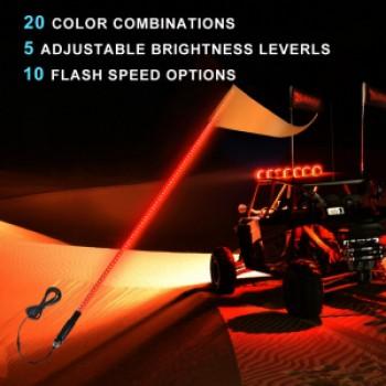 Флагшток с LED подсветкой МАТОВЫЙ (Как оптоволокно) и пультом управления TR804-12