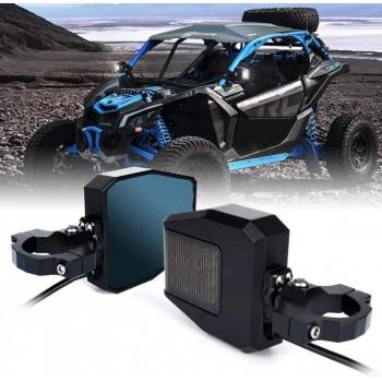 Комплект зеркал с доп освещением для UTV /SxS /SSV Can-Am Maverick X3 /Commander /Defender /Polaris RZR /RS1 /Yamaha Viking /YXZ1000 /Wolverine CF Z10 /Z8 RM90