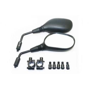 Зеркала для квадроцикла с переходниками под резьбу 10мм и 8мм левая /правая и установочными кронштейнами RiderLab RM96