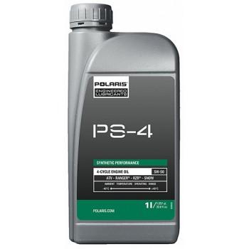 Оригинальное моторное масло 4Т Pure Polaris RZR /Sportsman /Ranger /SNOW 5W50 PS-4 1л 502484