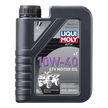 Масло в двигатель квадроцикла синтетическое MA2 10W-40 Liqui Moly Motoroil Offroad ATV 4T 1л 7540