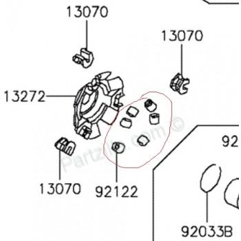 Грузик вариатора Kawasaki KVF 300 12-14 92122-Y007
